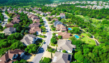 View of neighborhood and homes in Cedar Park and Leander, TX