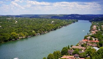 View of north Austin on the lake